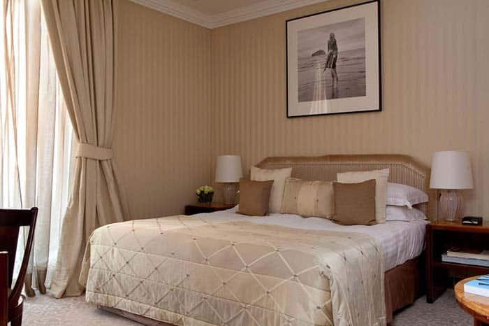Habitacion privada del hotel Baglioni.
