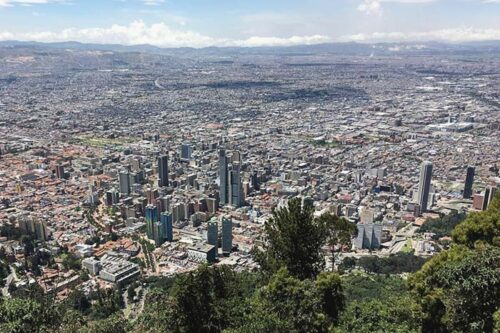 Vista desde Montserrate, Bogotà