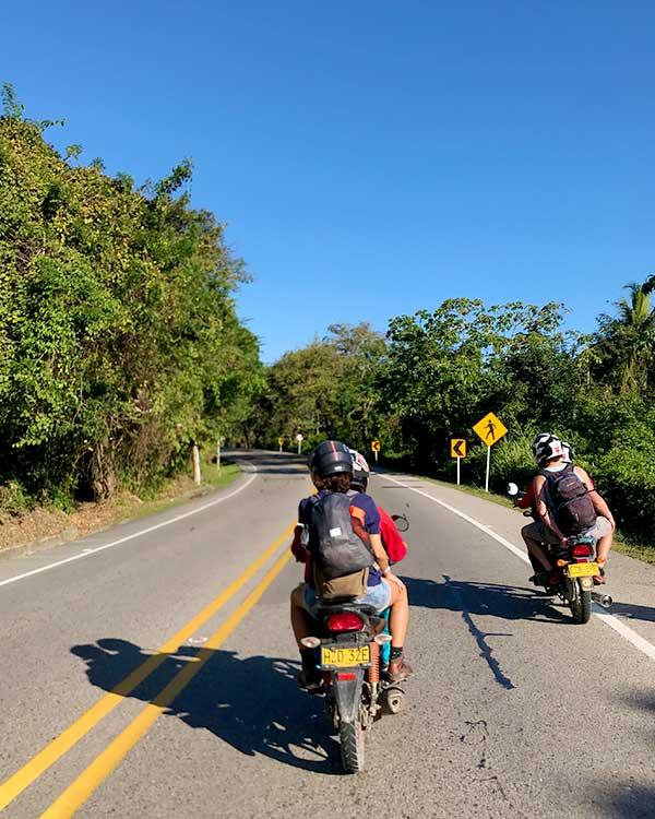 Moto taxi en Colombia