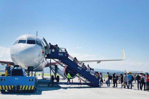Viajar en avión Colombia