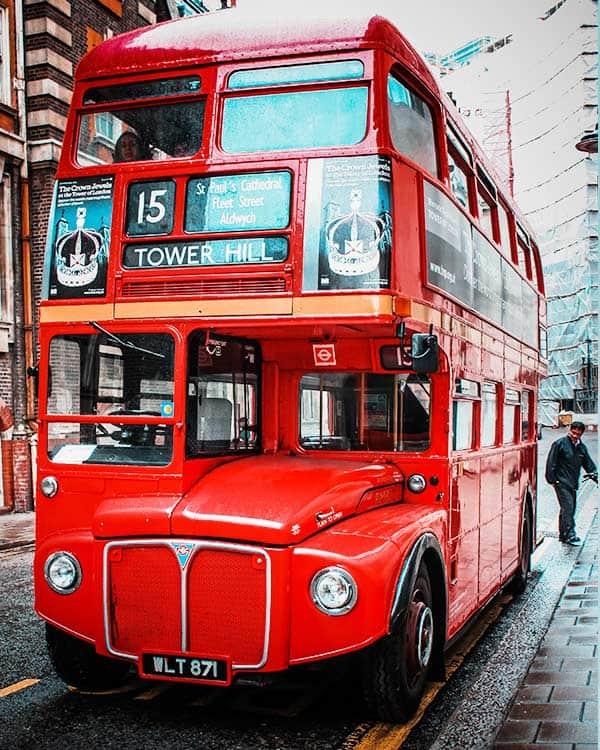 Autobús público en Londres