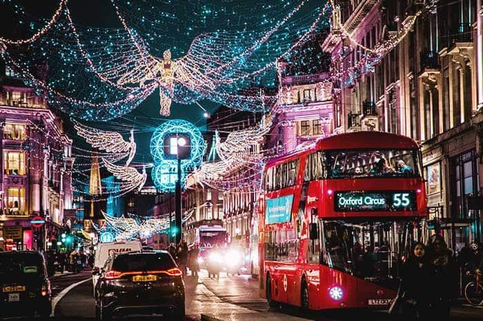Luces de Navidad en Londres