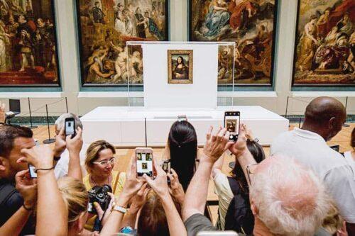 Mona lisa en el Louvre