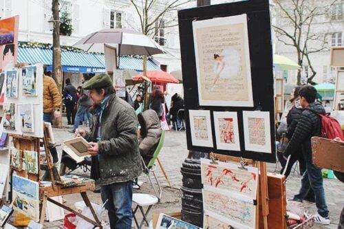 pintor en Montmartre