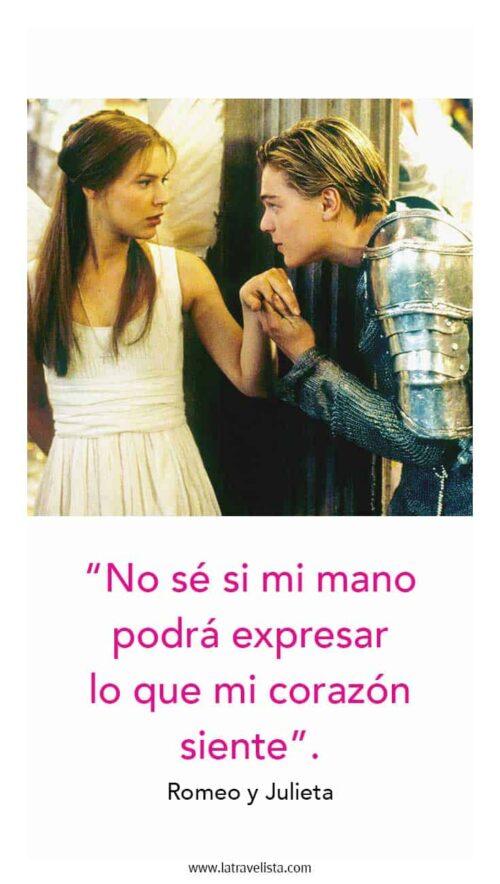 Romeo y Julieta frase amor
