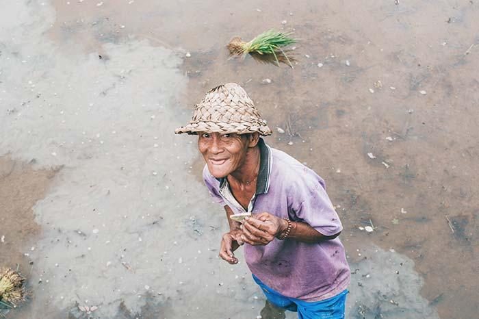 Tomar retratos en Bali