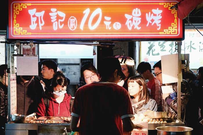 mercado local en Taiwan