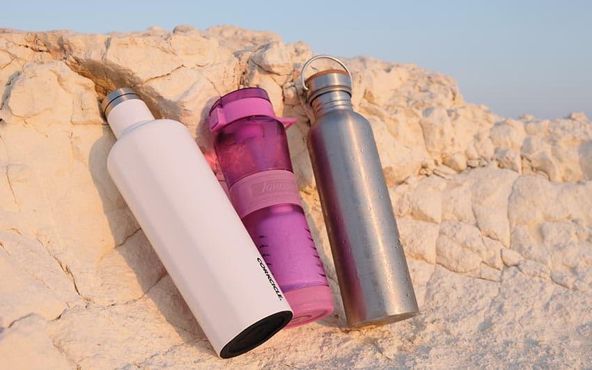 Botellas de agua reutilizable