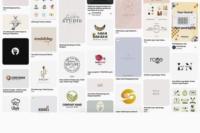 Logos minimalistas comida Pinterest