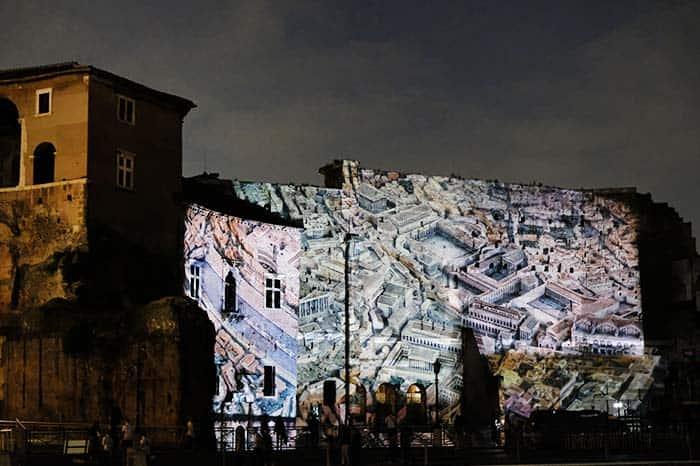 Espectaculo nocturno Roma