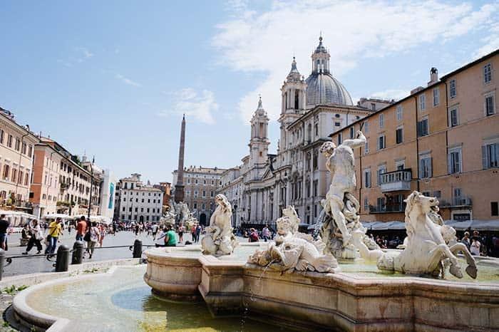 Plaza Navona, en Roma