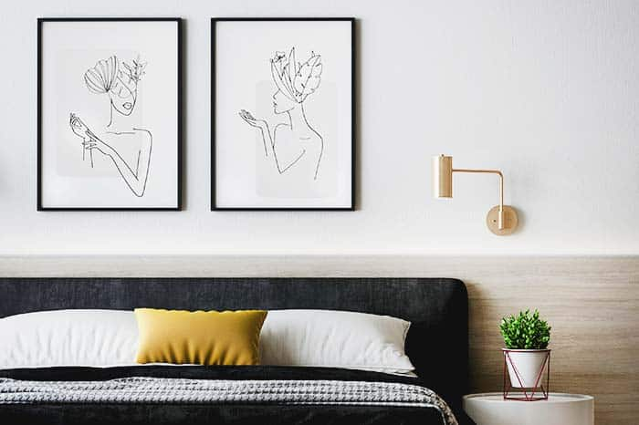 dormitorio decoración minimalista