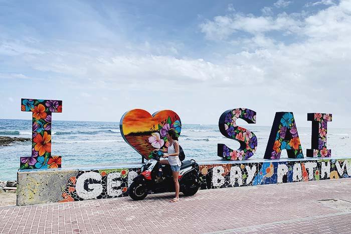 moto en San Andrés