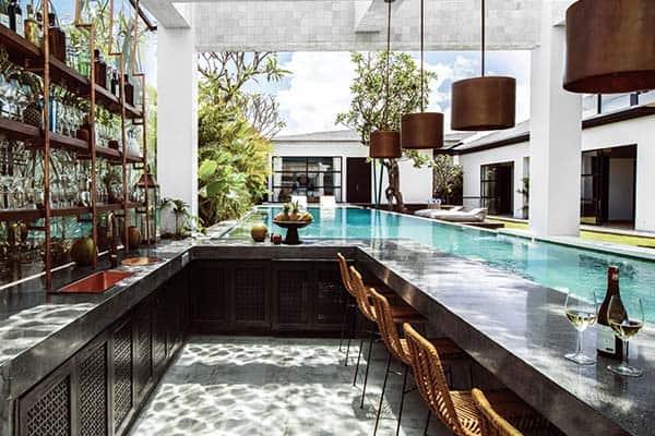 Detalles de una villa lujosa de Airbnb