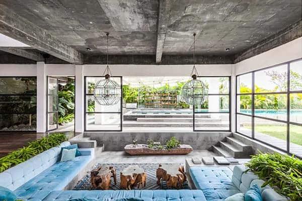 Sala estar villa en Bali
