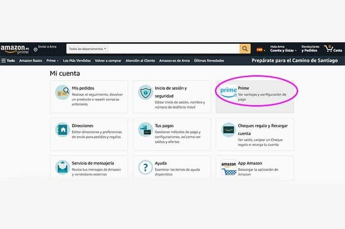 Cancelación Amazon Prime